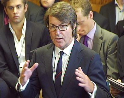 Games for a laugh: G4S' Nick Buckles explains the Olympics fiasco to a Commons committee