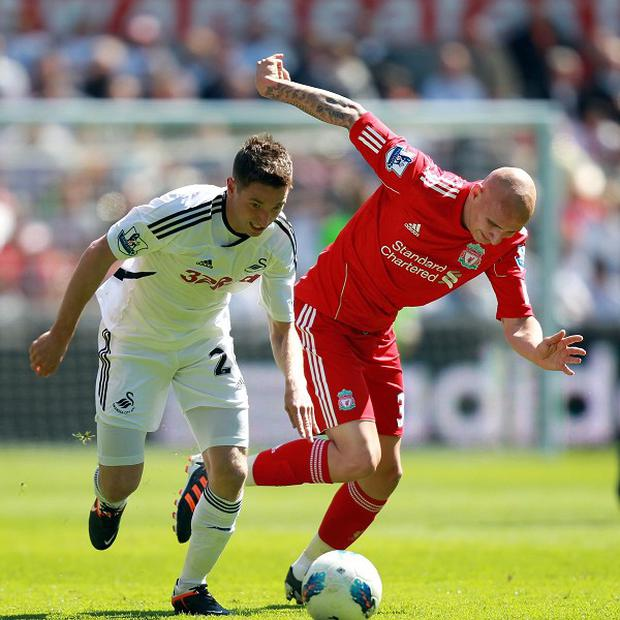 Joe Allen, left, is in the Team GB football squad for the Olympics