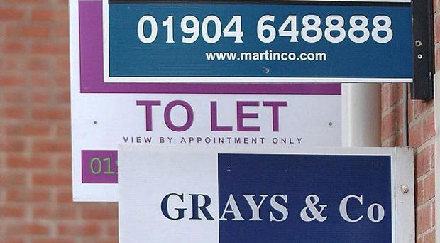 Rents have increased for the third month in a row, a survey suggests