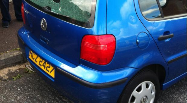 The nuns' cars were attacked by four hooded males