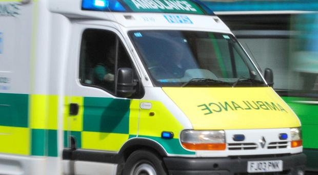 An Essex Police spokesman said the officers were taken by ambulance to Broomfield Hospital after the crash