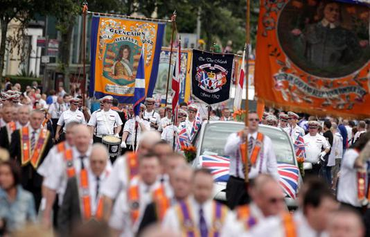 War and peace: most Orange Order parades passed off peacefully; the Ardoyne rioting was a shameful exception
