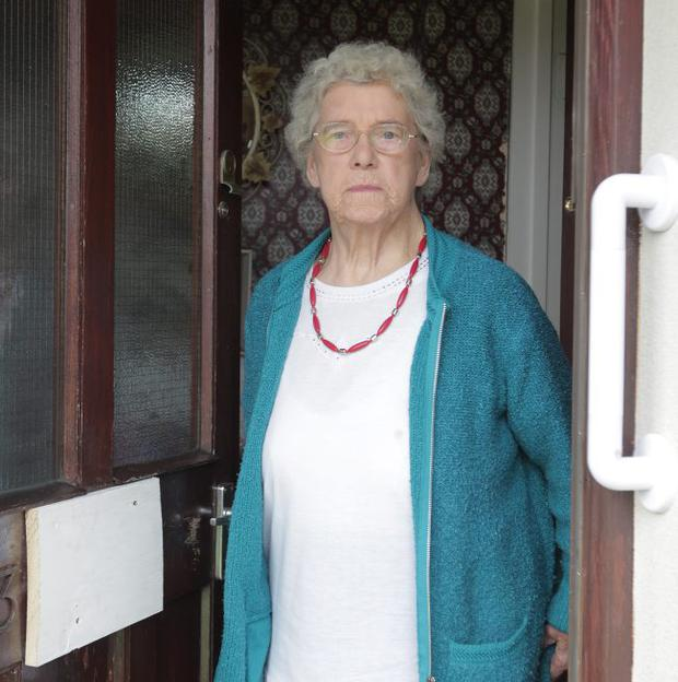 Defiant: Newcastle pensioner Eileen Hanna says she won't move from her home after the fire attack