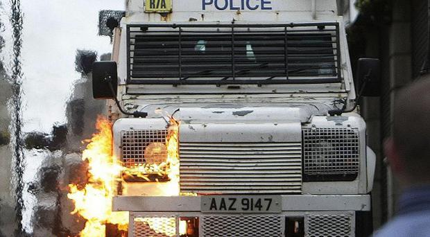 Police have been attacked with petrol bombs and other missiles during overnight trouble in Derry
