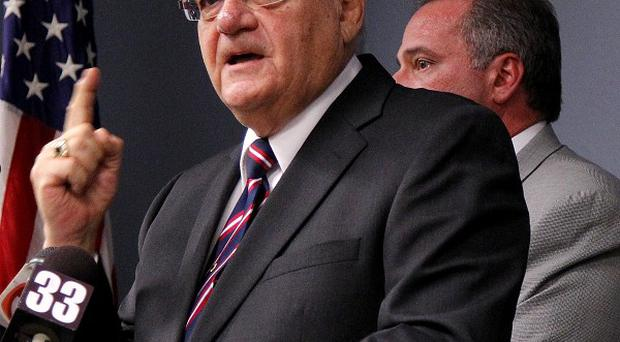 Hardline US heriff Joe Arpaio who faces a court hearing accused of targeting racial groups (AP)