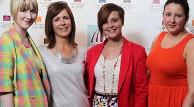 Katrina Doran, Avril Keys, Niamh Kelly and Gemma-Louise Bond at the Victoria Square Ladies' Race Day Launch