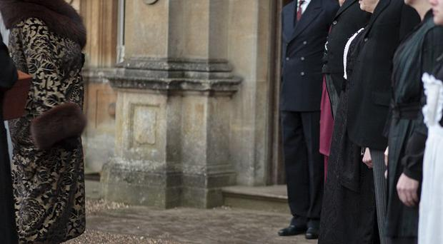 Martha Levinson, played by Shirley MacLaine, arrives at Downton Abbey to meet the family and staff