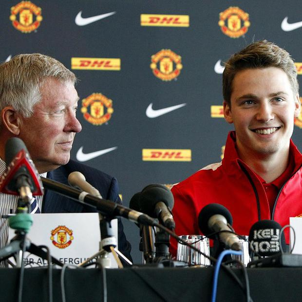 Sir Alex Ferguson, left, had to move quickly to secure the signature of Nick Powell