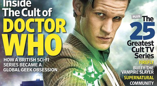 The front cover of Entertainment Weekly, which features Matt Smith as Doctor Who (BBC America/PA)