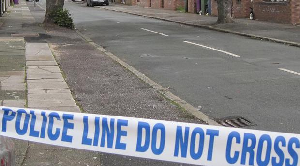 A police cordon was set up in Woking and some residents were evacuated from their homes