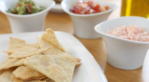Extra virgin olive oil crackers and dips