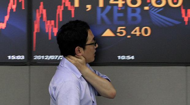 South Korea's latest economic figures showed the lowest growth since the third quarter of 2009