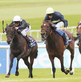 Great Heavens claims the Irish Oaks