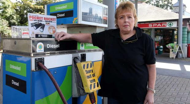 Devastated: Linda McCormick, co-owner of the filling station which was robbed