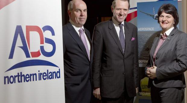 David Beatty, managing director of Thales Belfast and ADS NI chairman, with Rees Ward CB, chief executive officer ADS