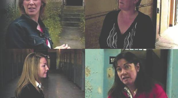 Old memories: clockwise from top left, Jacqui Upton, Angela Nelson, Jennifer McCann and Josie Dowds