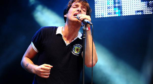 Paulo Nutini performs at the BT London Live concert which coincides with the opening of the Olympic Games in Hyde Park, London
