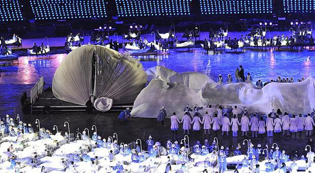 Danny Boyle's tribute to the health service during the London Olympic Games 2012 Opening Ceremony