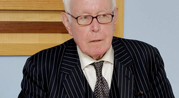 His Honour Mr Justice Peter Smithwick chairing the Smithwick Tribunal in Dublin