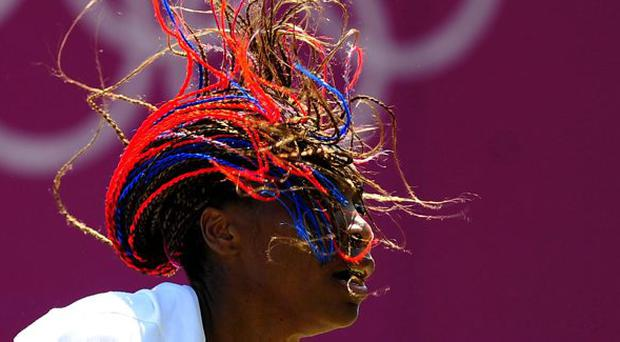 USA's Venus Williams during the practice session at The All England Lawn Tennis and Croquet Club, Wimbledon, London.