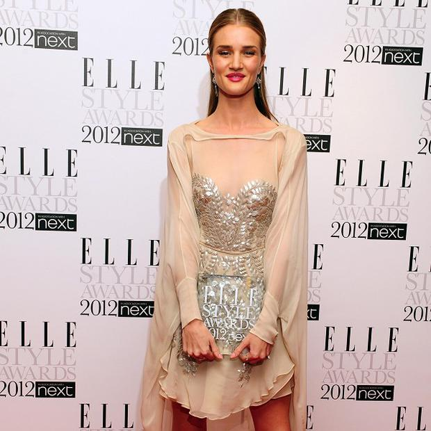 Rosie Huntington-Whiteley has been talking about the possibility of her becoming a mum