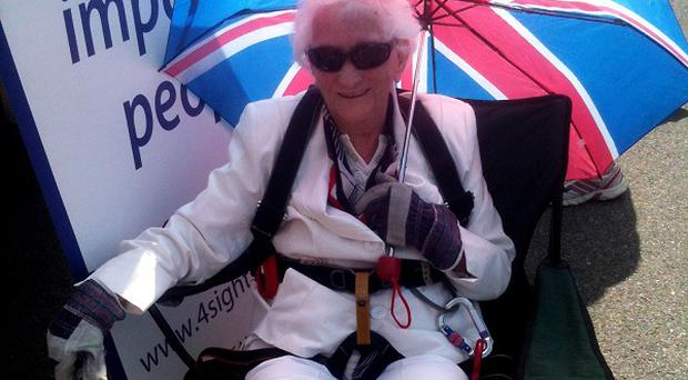 Gertrude Painter, 96, who died just before she was due to take part in her 10th charity abseil (4Sight/PA)