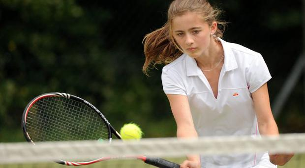 Laura Reid at this years junior tennis championships at the Belfast Boat Club
