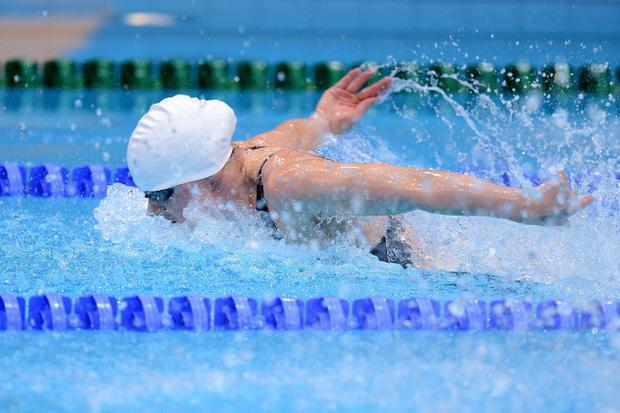 Team Ireland's Sycerika McMahon competes in the Women's 200m Individual Medley Heats at the Aquatics Centre in the Olympic Park, London, on the third day of the London 2012 Olympics