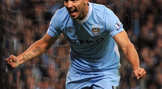 Sergio Aguero scored one and set up two goals for Manchester City