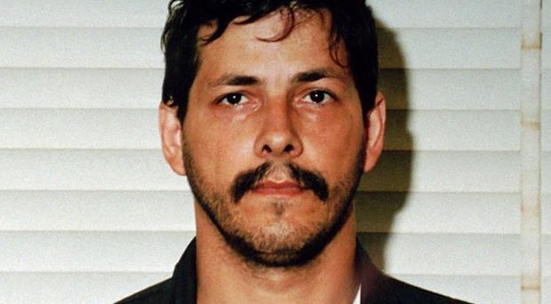Child rapist Marc Dutroux whose wife has been released early from prison after being sentenced to 30 years for aiding him (AP)