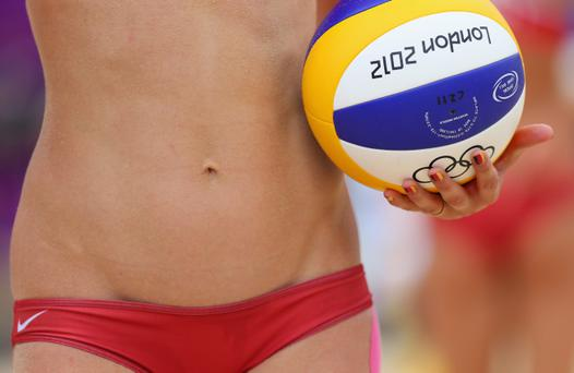 LONDON, ENGLAND - JULY 31: A detailed view of the match ball during the Women's Beach Volleyball Preliminary match between Brazil and Germany on Day 4 at Horse Guards Parade on July 31, 2012 in London, England. (Photo by Ryan Pierse/Getty Images)