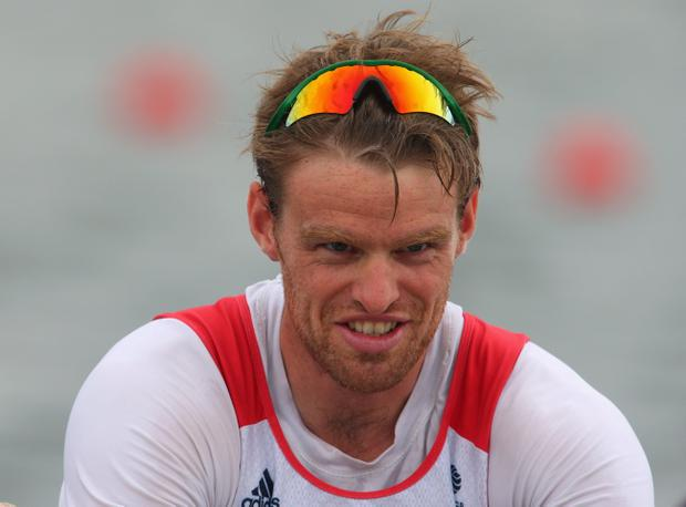 WINDSOR, ENGLAND - AUGUST 01: Alan Campbell of Great Britain looks on after the Men's Single Sculls semi final on Day 5 of the London 2012 Olympic Games at Eton Dorney on August 1, 2012 in Windsor, England. (Photo by Alexander Hassenstein/Getty Images)