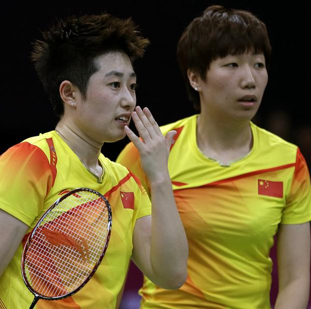 China's Yu Yang and Wang Xiaoli during their controversial match against the South Korean pair (AP)