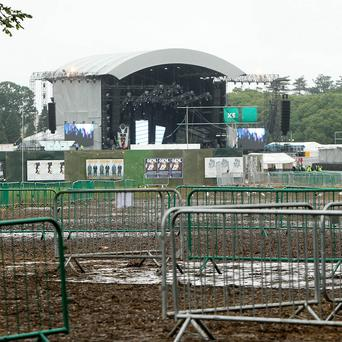 The concert site where nine people men were stabbed in separate knife attacks in Phoenix Park, Dublin