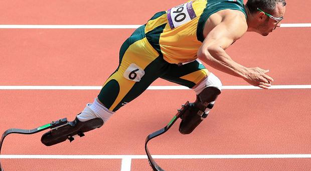 South Africa's Oscar Pistorius competes in the Men's 400m heats