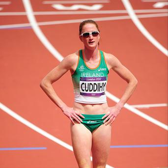 Joanne Cuddihy qualified for the semi-finals of the 400m hurdles