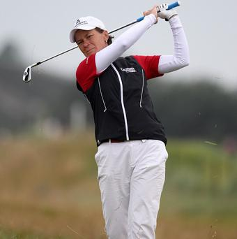 Catriona Matthew leads the Ladies Irish Open at the halfway stage