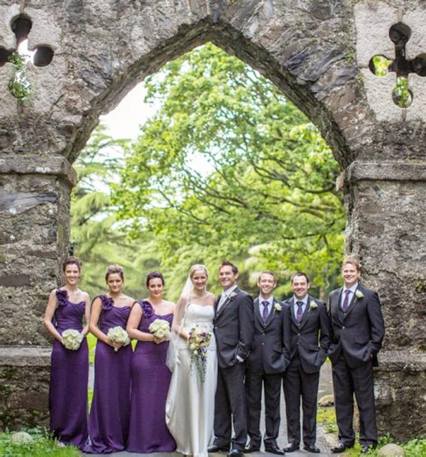 """Helen and Scott Girdlestone on their wedding day. <p><b>To send us your Wedding Pics <a href=""""http://www.belfasttelegraph.co.uk/usersubmission/the-belfast-telegraph-wants-to-hear-from-you-13927437.html"""" title=""""Click here to send your pics to Belfast Telegraph"""">Click here</a> </a></p></b>"""