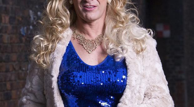 Sean Bean as transvestite Simon's alter-ego Tracie Tremarco in Accused