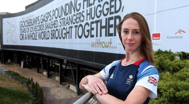 Wendy Houvenaghel who missed out on a gold medal after being left out of Great Britain's team pursuit team in the 2012 London Olympic games.