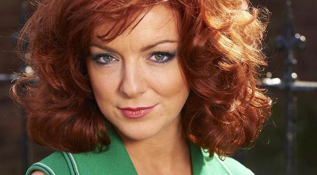Sheridan Smith turned redhead for her role as Charmian Biggs