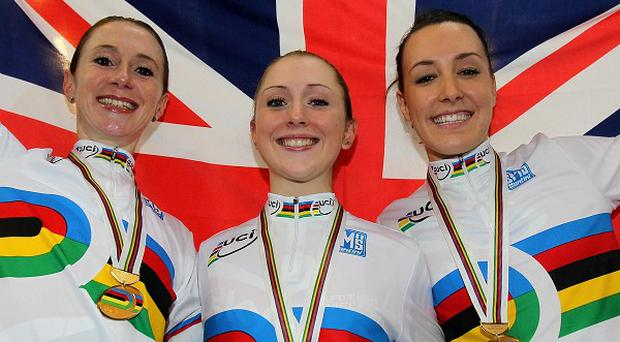 Wendy Houvenaghel, left, was denied the chance to race with Laura Trott and Dani King