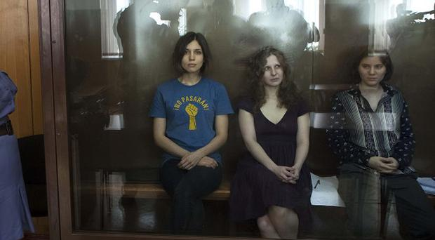 The Pussy Riot band members in court (AP)
