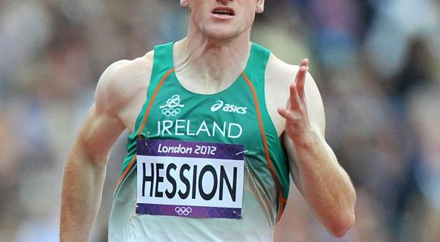 Paul Hession failed to progress through the 200m heats in London