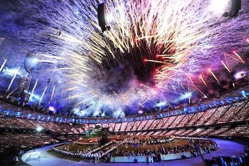 Great start:: much of the opening ceremony was spectacular, but Paul McCartney, was below par