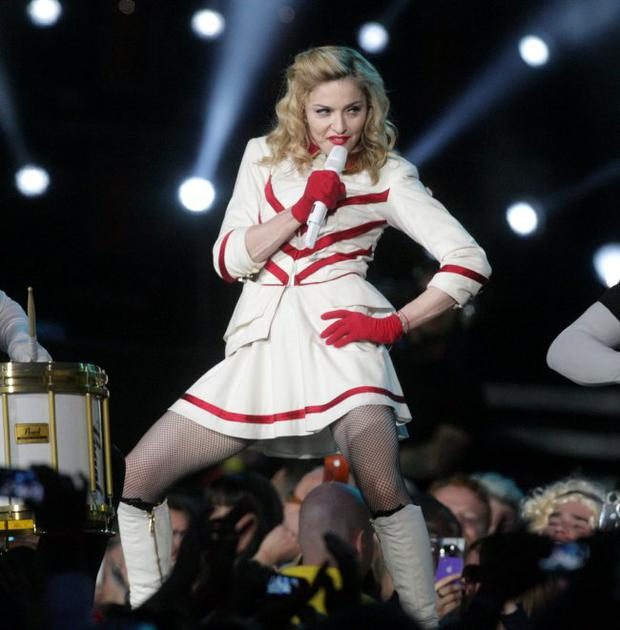 Madonna during her recent tour