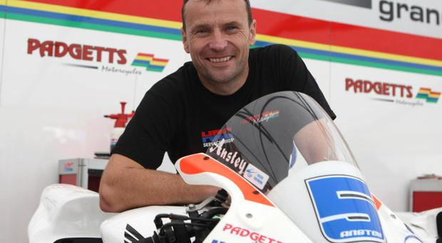 Ready for the off: Bruce Anstey