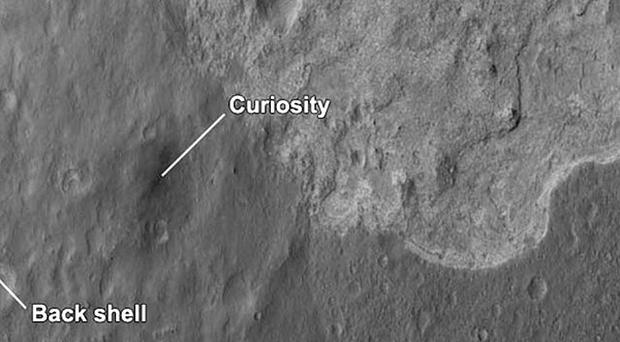 Scientists have described the Martian crater where Nasa's Curiosity rover landed (AP, Nasa)