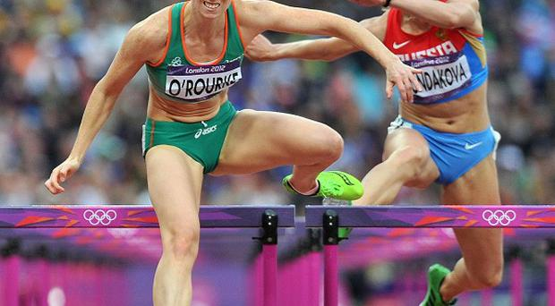 Derval O'Rourke in action during the semi-final of the women's 100m hurdles