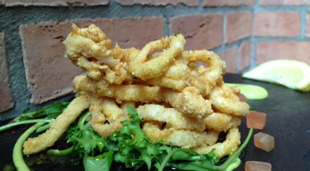 Salt and chilli squid salad
